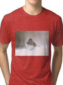 Adorable snow bird in his element Tri-blend T-Shirt