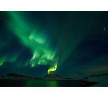 Aurora Volcano in Hvalfjordur Photographic Print