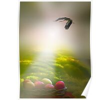 Easter Sun Rays Poster