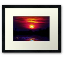 Beautiful Flow Framed Print