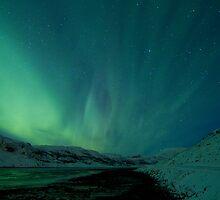 Green Sky over Hvalfjordur by kursk