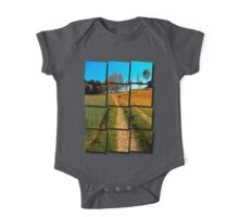 Hiking trail following the trees One Piece - Short Sleeve