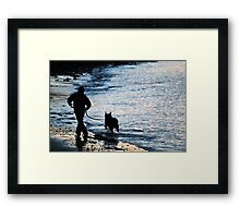 Chasing the Waves Framed Print