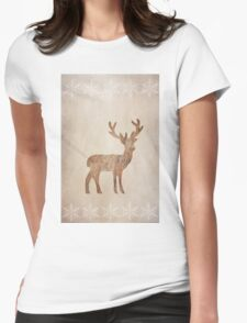 Wooden Rudy Womens Fitted T-Shirt