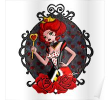 Queen of Hearts - White Background Poster