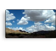 Shadows In The Valley - Mojave Canvas Print
