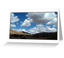 Shadows In The Valley - Mojave Greeting Card