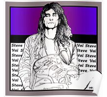 Steve Vai Sitting Poster