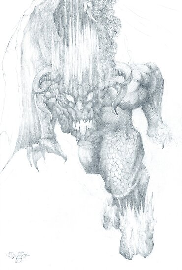 Balrog Sketch by Curtiss Shaffer