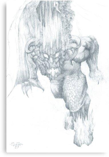 Balrog Sketch by Curtiss Shaffer
