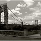 George Washington Bridge Panoramic by steeber