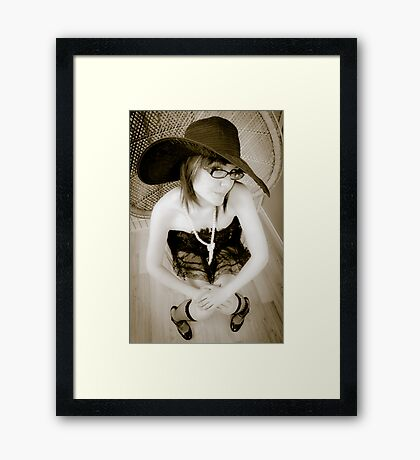 Innocent and Sweet Framed Print