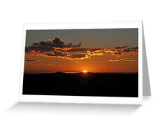 Sunrise Bald Hill, Hill End NSW Australia Greeting Card