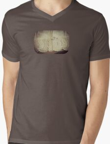 Lace - Embroidery - JUSTART © Mens V-Neck T-Shirt