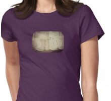 Lace - Embroidery - JUSTART © Womens Fitted T-Shirt