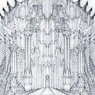 Barad-Dur Gate Study by Curtiss Shaffer