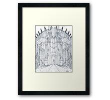 Barad-Dur Gate Study Framed Print