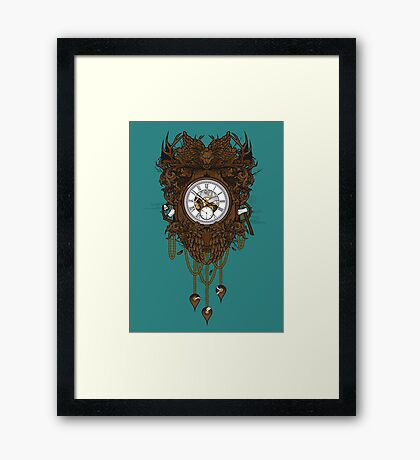 Your Time Machine Stranded Me Framed Print