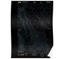 USGS Topo Map Oregon Wallowa 20110824 TM Inverted Poster