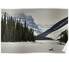 Mountains and glaciers Poster