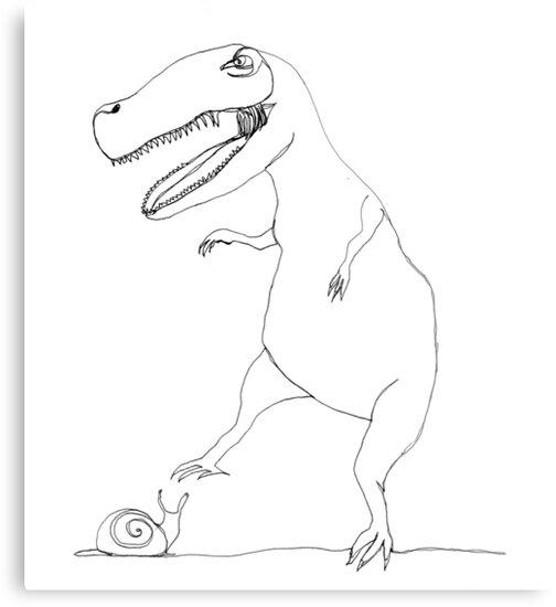 snail & T-Rex by dthaase