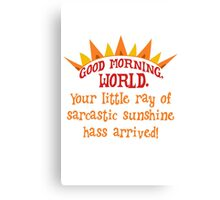 Sarcastic sunshine Canvas Print