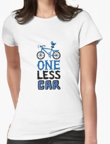 One Less Car Womens Fitted T-Shirt
