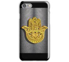 Fatima Hand 3D Vector Gold or Khamsa Hamsa arabic leather iPhone Case/Skin