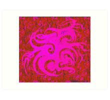 """Dance of the Pink Spring Spirits"" Art Print"