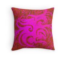 """Dance of the Pink Spring Spirits"" Throw Pillow"