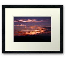 Anzac Sunrise ~ Beaufoy Merlin Lookout ~ Hill End Framed Print