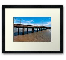The Pair At Low Tide. Framed Print