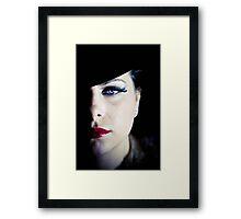 Lady in the Black Velvet Hat Framed Print