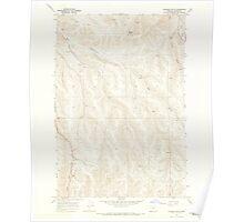 USGS Topo Map Oregon Gleason Butte 280031 1968 24000 Poster