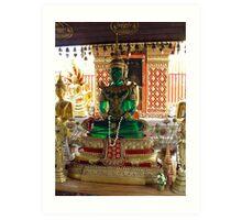 Emerald Buddha Art Print
