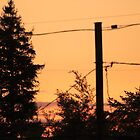 Sunset in suburban Portland. by Michael Lucas