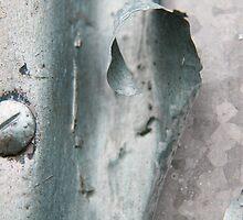 Abstract in Metallic Blue  II by LynnEngland