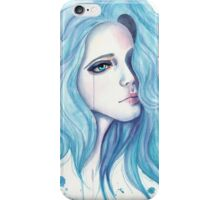 Girl with blue hair iPhone Case/Skin