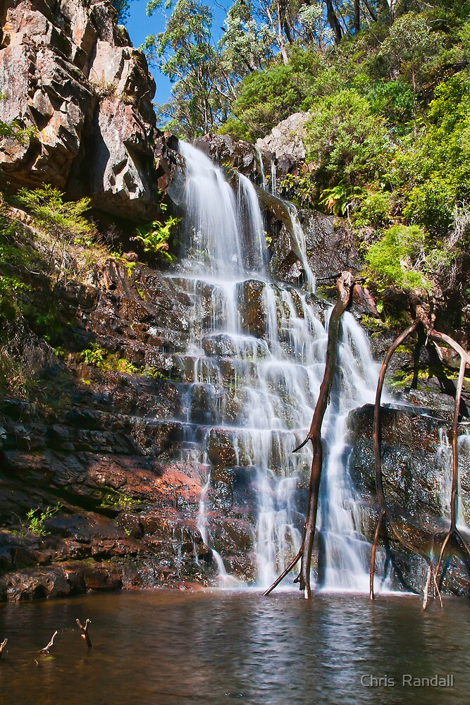 Early Morning Cascades of Kalang Falls by Chris  Randall