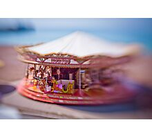Dreamy Carousel Funfair Brighton Photographic Print