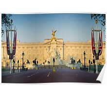 UK. London. Buckingham Palace. Union Jack decorations for Royal Wedding. Poster