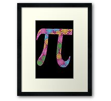 Spring pi tshirts  flowery colorful pi day gifts Framed Print
