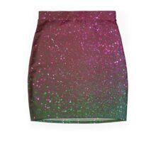 Purple green  glitter sparkle background Mini Skirt