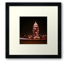 independence monument, phnom penh, cambodia Framed Print