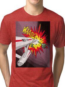 Lichtenstein Star Trek - Whaam! Tri-blend T-Shirt