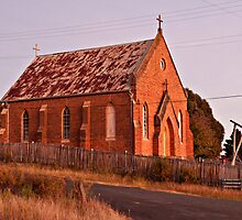 St Pauls Church at Hill End. by Robin Young