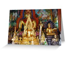 Buddhas Temple Greeting Card