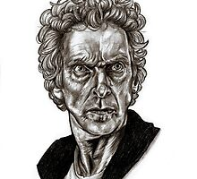 Peter Capaldi - Doctor Who - Drawing  by Indigo East