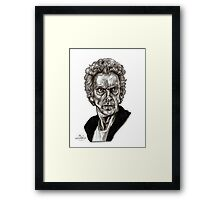 Peter Capaldi - Doctor Who - Drawing  Framed Print