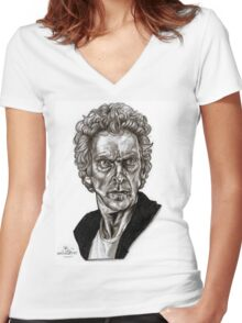 Peter Capaldi - Doctor Who - Drawing  Women's Fitted V-Neck T-Shirt